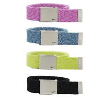 Nike Single Web Heather Golf Belt, Gray, Yellow, Blue, Berry - $22.50