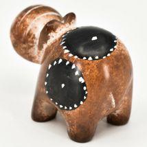 Crafts Caravan Soapstone Speckled Brown Hippopotamus Hippo Figurine Made Kenya image 3