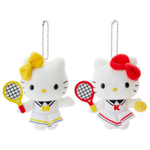 2Pcs Sanrio Hello Kitty & Mimmy Plush Mascot Chain Doll Tennis New Colle... - $41.58