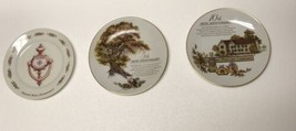 Avon 2nd 5th 10th Anniversary Novelty Collectible Plates Lot Of 3 Vintage - $29.69