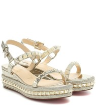 Christian Louboutin Beige Pyraclou 60MM Sandals New - $849.00