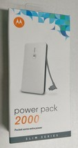 New Motorola Portable Slim Power Pack 2000 SPN5809A - White - Micro-USB ... - $8.90