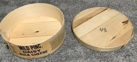 """Cheese Box Dufecks Wisconsin Wooden Round And Lid 15"""" Storage Box Free S... - $32.71"""