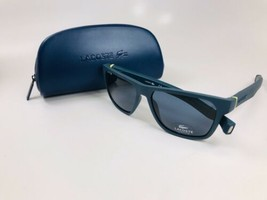 New Lacoste Magnetic Tip L869S 414 Blue Navy Sunglasses 57mm with Case - $113.80