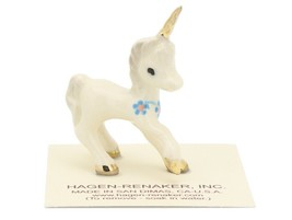 Hagen Renaker Miniature Fantasy Unicorn Baby Ceramic Figurine