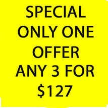 WED-THURS Flash Sale! Pick Any 3 For $127 Best Offers Discount - $254.00