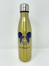 Disney Parks WDW 50th Anniversary Oct 1st 2021 Gold Water Bottle Tumbler... - $49.49