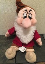 Disney Store Grumpy Plush From Snow White And The Seven Dwarfs Vday - $16.91