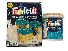 Pillsbury Space Galaxy Birthday Cake and Cupcake Bundle Funfetti Mix wit... - $14.99