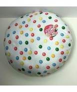 Royal Deluxe Accessories Round White Gum Ball Candy Themed Plush Pillow - $9.80