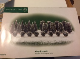 Department-56-Village-Accessories-Frosted-Shrubbery-Set-of-30-with-box - $39.59