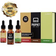 DELUXE EDITION 3 Beard Oils Set: Sandalwood, Cedarwood and Unscented - USA's TOP image 2