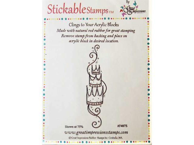 Stickable Stamps Set of 3 Crowns Rubber Cling Stamp #F407S