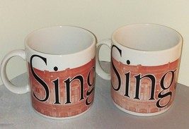 SINGAPORE Starbucks / LOT of 2 / City Mug Collector Series / 1994 / Coff... - $34.64