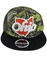 State of Ohio Outline Men's Snapback Baseball Cap (Camouflage/Black) - $12.95
