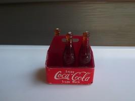 Vintage Barbie Coca Cola Soda Pop Miniature  Coke Bottles in Carrier - $9.49