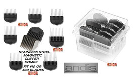 ANDIS Stainless Steel Magnetic GUIDE CLIPPER BLADE COMB 8 pc SET Attachment - $104.99