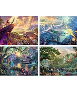 Ceaco Thomas Kinkade The Disney Dreams Collection 4 in 1 Multipack Lion ... - $25.28