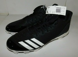 Adidas Icon 4 Boost Black Baseball Cleats Shoes Size 11.5 Brand New - $40.00