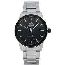 Orient FAC05001B0 Men Silver Steel Band With Black Analog Dial Genuine W... - $116.83
