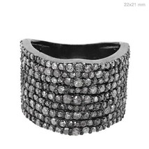925 Sterling Silver Jewelry 1.71 Ct Natural Diamond Studded Vintage Insp... - $727.65