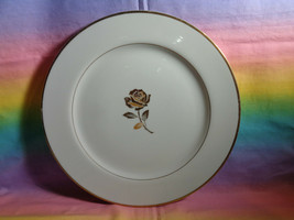 """Fine China Golden Anniversary Dinner Plate Made in Japan 10 1/2"""" Gold Ro... - $9.89"""