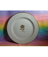 "Fine China Golden Anniversary Dinner Plate Made in Japan 10 1/2"" Gold Ro... - $9.89"