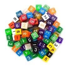 rpg dice, Wiz 100 D6 Random Assorted Colors polyhedral lot rpg dice pack - $35.99