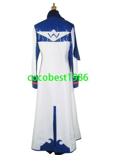 Vocaloid Kaito Halloween Cosplay Costume  any size  Overcoat   Trousers  Scarf