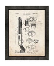 Magazine-firearm Patent Print Old Look with Beveled Wood Frame - $24.95+