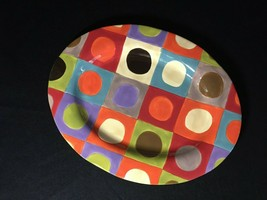 "EUC - PIER 1 - ""Urban Dot "" 16"" Multi Colored Platter/Tray 8872415 - $15.43"