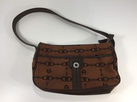 Etienne Aigner Brown Women's Shoulder Handbag Purse - $39.99