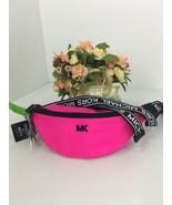New Michael Kors Sport Hot Pink Fanny Pack Waist Belt Nyon Zip B2H - $98.95