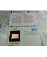 Marshall Islands 22kt Golden Replica Stamp 1990 First Day Stamp  - $19.79
