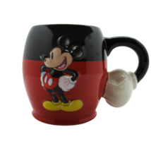 3D Mickey Mouse Pants Coffee Mug Cup Arm Handle White Glove Disney Parks - $22.48