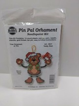 NMI Pin Pal Ornament Needlepoint Kit Christmas Teddy Bear 5507 - $11.75