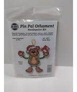 NMI Pin Pal Ornament Needlepoint Kit Christmas Teddy Bear 5507 - $11.75