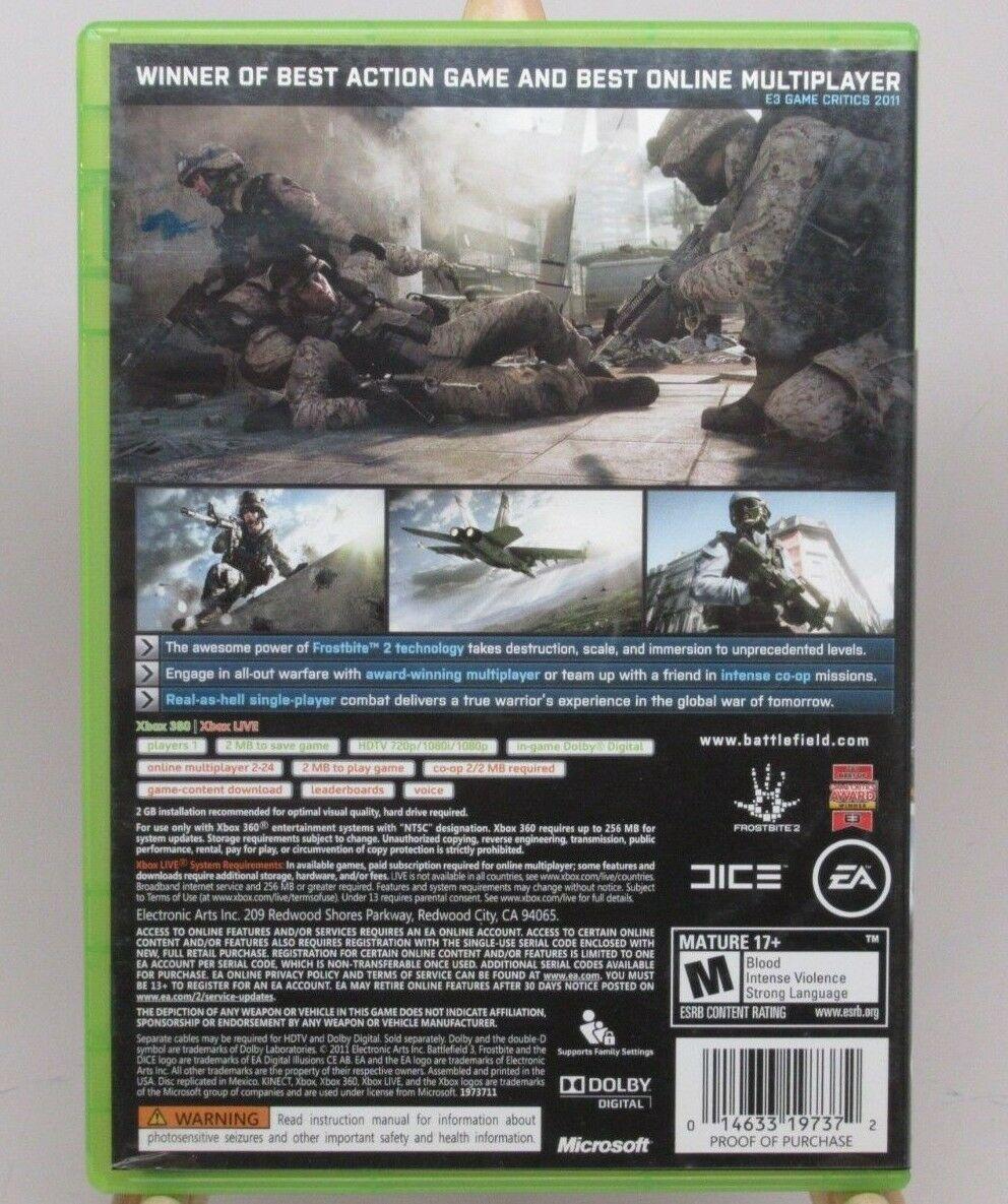 Battlefield 3 (Microsoft Xbox 360, 2011) Battlefield 3 XBOX 360 Video Game EA