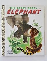 Vintage The Saggy Baggy Elephant a Little Golden Kids Hardback Book 1991... - $11.74