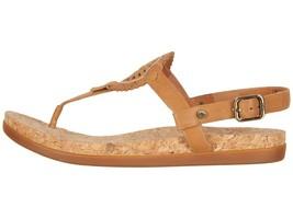 UGG AYDEN II Almond Women's T-Strap Leather Flat Sandals 1020063 - $80.00