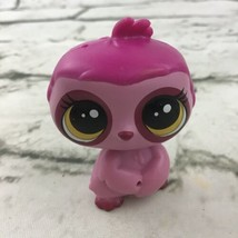 Littlest Pet Shop LPS Sloth Figure Pink Bobble PVC Mini Animal Toy Hasbr... - $14.84