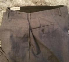 Emporio Armani Mens Gray Dress Pants Formal Slacks Size L (34/35) Made in Italy - $30.64