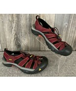KEEN Water Shoes Women's 9.5 Burgundy/Black Strappy Bungee Cord Hiking Trek - £15.86 GBP