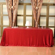 Eternal Beauty 60'' X 120'' Red Sequin Tablecloth Wedding Banquet Party ... - $31.55