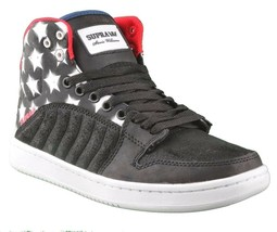 Supra Stevie Williams S1W Badge Shoes Stars & Stripes Black Navy White Sneakers image 1