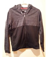 Reebok Navy two tone Black Hoodie Size Youth Large (14-16) polyester - $16.82