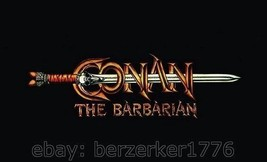 Conan The Barbarian movie title 1980's 3'x5' horizontal Flag USA Seller ... - $25.00