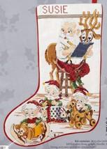 Candamar Santa and Elves Workshop Deer Christmas Cross Stitch Stocking Kit 50501 - $42.95
