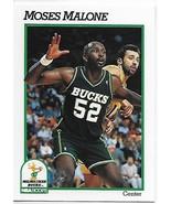 1991-92 Hoops #394 Moses Malone NM-MT Bucks - $0.99