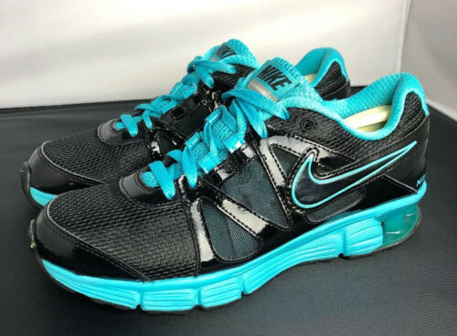 Nike Reax Rocket 2 Running Shoes 454175 004 Black Aqua Womens Size 8.5